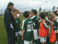 Packie Bonner gives some advice to the Under 13s.