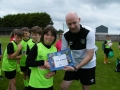 Jack gets his cert from head coach David Connolly