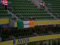 The flag hanging proudly at the Aviva 11-10-11