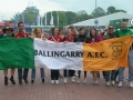 James Clancy and Rory Alymer with Spanish friends during Euro 2012