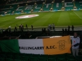 The flag inside Celtic Park for Scotland game 14-11-14
