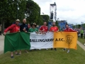 Wales fans in the Fanzone Paris at Euro 16 and we love Ballingarry AFC