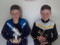 Dylan and Adam Picard LDSL U12 Player of the Year and Ballingarry AFC U12 Player of the Year 2016/17