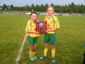 Goal scorers Kate O\'Connor and Donny Kenny.