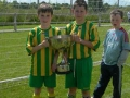 Goalscorers Mikey Hickey and Mark O'Kelly