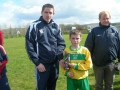 Ballingarrys Mikey Hickey receives his Man of the Match award.