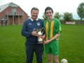 Ger Costello presents trophy to Sean O'Connor