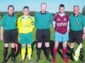 Captains and match officials before the game.