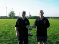 Managers John Clancy and Pascal Moynihan with the cup.