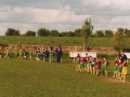 The teams enter the pitch for the Under 8 Champions League and UEFA Cup finals 2004/05.