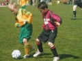 Killian Begley defends for his team.
