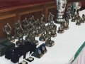 The trophies on offer at the presentation night.