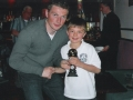 Nathan Clancy, LDSL Under 10 Division 1 Player of the Year 2007/08 receives his award from Denis Behan of Cork City FC.
