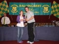 Aoife Shelton Under 14 Girls player of the year.