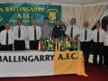 Ballingarry AFC management committee with guests of honour