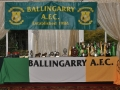 Trophy display at underage presentation night