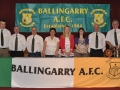 Ballingarry AFC management committee with guests of honour at the presentation night