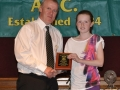 Katie Collum receives LDSL U-12 Squad award