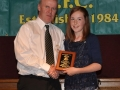 Noreen Lenihan receives LDSL U-12 Squad award
