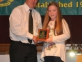 Shauna Hayes receives the LDSL U-12 Squad award