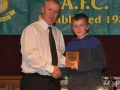 Niall Houlihan receives the LDSL U-13 Squad award