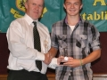 Nathan Clancy receives the LDSL U-15 Squad award