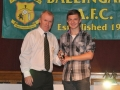 Nathan Clancy receives the LDSL U-16 Squad award