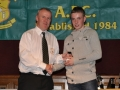 Alan Murphy receives the LDSL Kennedy Cup squad award