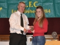 Brenda O'Keeffe receives the LDSL Gaynor Cup squad award