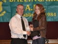 Rachel Anderson receives the LDSL Gaynor Cup squad award