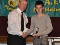 Mikey Hickey receives the LDSL Kennedy Cup squad award