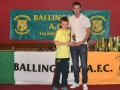 Under 10 B player of the year Brian Sheehy