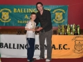 Under 10 B top scorer Eoin O'Connor