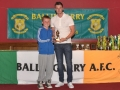 Under 11 Player of the year Cathal Tagney