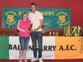 Under 12 Girls Player of the year Shauna Hayes
