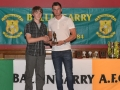 Under 14 Player of the year James Storin
