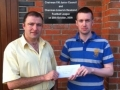 Conor O'Donoghue won tickets for N. Ireland game 24-5-11