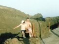 James and Ned on Mount Vesuvius, Italy, June 1990