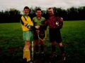 Ballingarry AFC Youth captain Aidan Barrett presents the pennant to the Broadford captain prior to the Munster Youth Cup Area Final 1999.