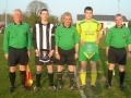 Captains and officials before kick off
