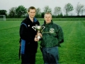 The victorious Ballingarry AFC Youth team managers, John Cronin and James Clancy, pictured with the cup.