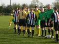 The teams meet prior to kick off