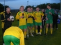 Ballingarry players wait for trophy presentation