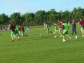 Ballingarry warm up before kick off