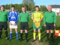 Team captains and match officials