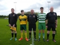 Captains and match officials before kick off