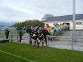 Teams enter pitch