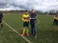Captain Adam Long Receives Division 2 Trophy 2017/18 from PJ Hogan LDFL