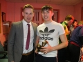 Youth Player Of The Year 2017/18 Adam Shanagher with manager Dean Clancy