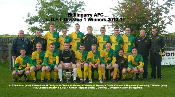 Ballingarry AFC - Double winners 2010-11